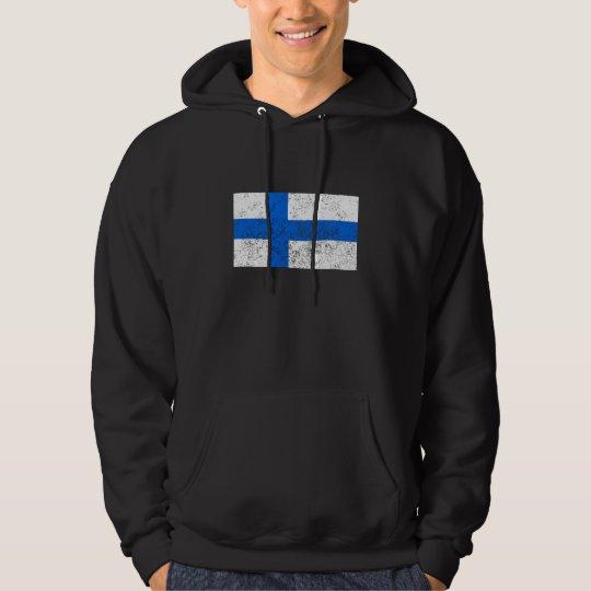 Distressed Finland Flag Hoodie