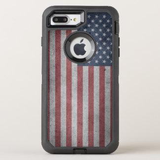 Distressed Flag of the United States OtterBox Defender iPhone 8 Plus/7 Plus Case