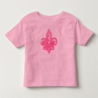 Distressed Fleur De Lis (Pink) Tee Shirt