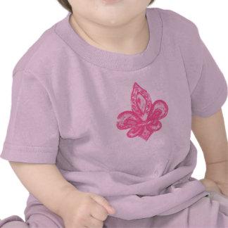 Distressed Fleur De Lis (Pink) Shirts
