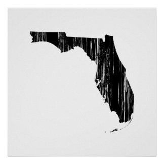 Distressed Florida State Outline Print