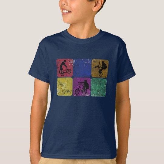 Distressed Freestyle Biker Kids T-shirt