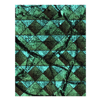 Distressed geometric pattern 21.5 cm x 28 cm flyer