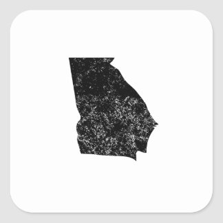 Distressed Georgia Silhouette Sticker