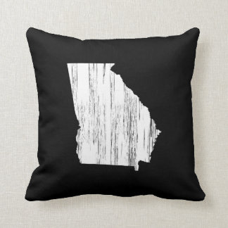 Distressed Georgia State Outline Cushions