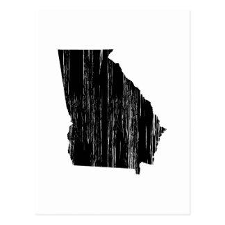 Distressed Georgia State Outline Postcard