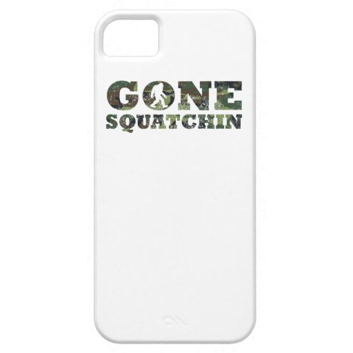 Distressed Gone Squatchin' Camouflage iPhone 5 Cases
