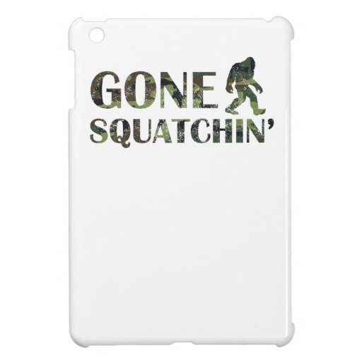 Distressed Gone Squatchin' Camouflage iPad Mini Covers