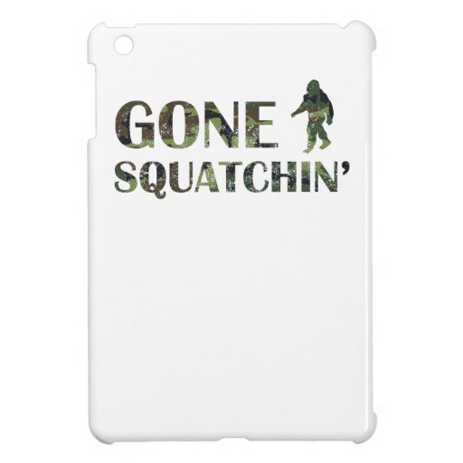 Distressed Gone Squatchin' Camouflage iPad Mini Cover