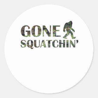 Distressed Gone Squatchin' Camouflage Sticker