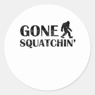 Distressed Gone Squatchin' Stickers