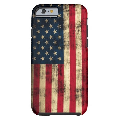 Distressed Grunge American Flag iPhone 6 Case