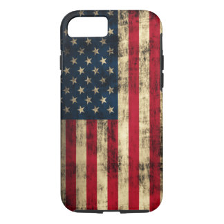 Distressed Grunge American Flag iPhone 7 Case
