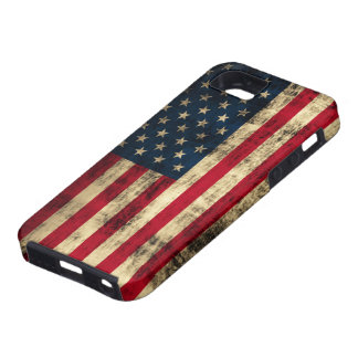 Distressed Grunge American Flag Tough iPhone 5 Case