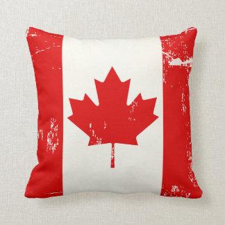 Distressed Grunge Canada Flag Maple Leaf Cushion