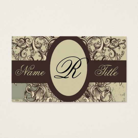 distressed grunge flourish swirls fashion vintage business card