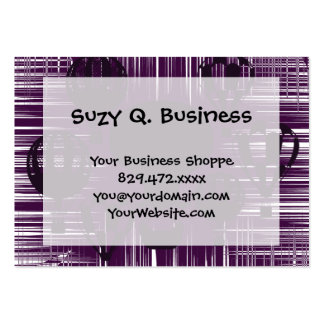Distressed Grunge Vintage Hot Air Balloons Purple Pack Of Chubby Business Cards