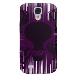 Distressed Grunge Vintage Hot Air Balloons Purple Galaxy S4 Case