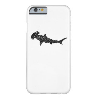 Distressed Hammerhead Shark Silhouette Barely There iPhone 6 Case