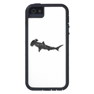 Distressed Hammerhead Shark Silhouette iPhone 5 Cases