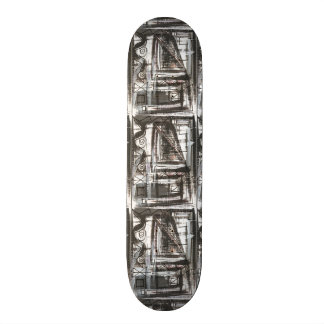 Distressed-Hand Painted Abstract Brushstrokes 21.3 Cm Mini Skateboard Deck