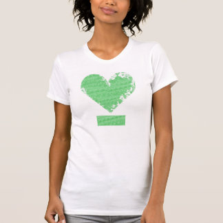 Distressed Heart Design T-Shirt