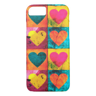 Distressed Heart Pop Art iPhone 7 Case