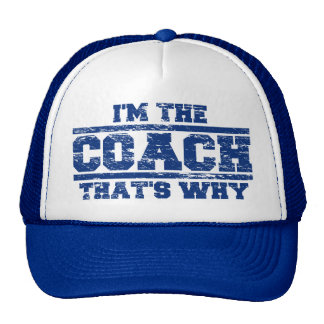 Distressed I'm The Coach That's Why Hat