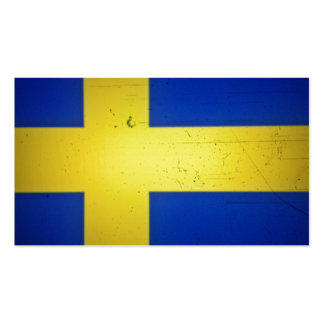 Distressed Image Swedish Flag Business Cards