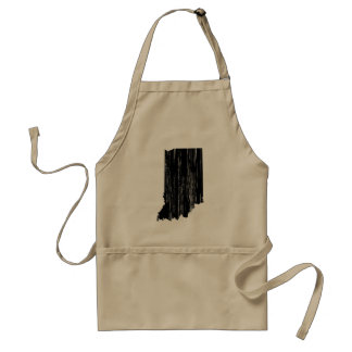 Distressed Indiana State Outline Standard Apron