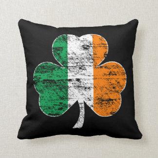 Distressed Irish Flag Shamrock Couch Pillow