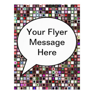 Distressed Jewel Tones Textured Tiles Pattern Personalized Flyer