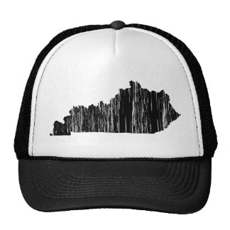 Distressed Kentucky State Outline Cap