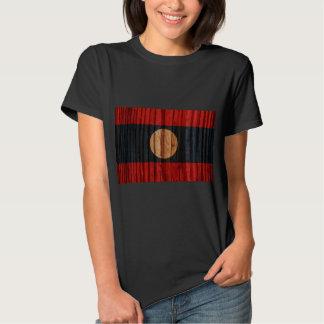 Distressed Laos Flag T Shirts