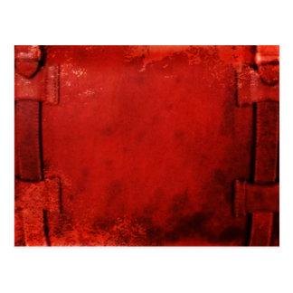 Distressed Leather Briefcase Postcard