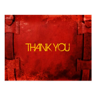Distressed Leather Briefcase Thank You Postcard