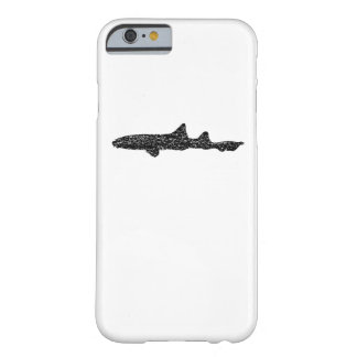 Distressed Leopard Shark Silhouette Barely There iPhone 6 Case