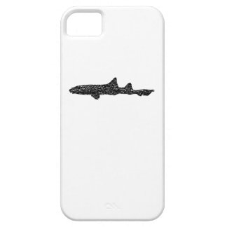 Distressed Leopard Shark Silhouette iPhone 5 Covers