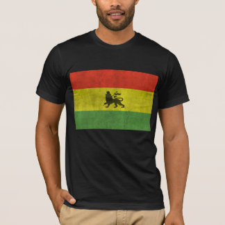 Distressed Lion of Judah Rasta Flag T-Shirt