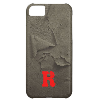 Distressed Look, Monogrammed Cover For iPhone 5C