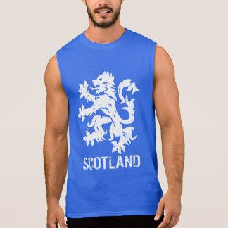 Distressed Look Scottish Rampant Lion Sleeveless Shirt