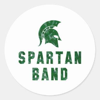 Distressed-Look Spartan Band Logo #1 Round Sticker