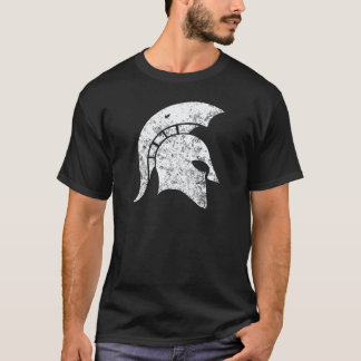 Distressed-Look Spartan Head (white) T-Shirt