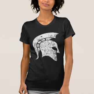 Distressed-Look Spartan Head (white) Tees