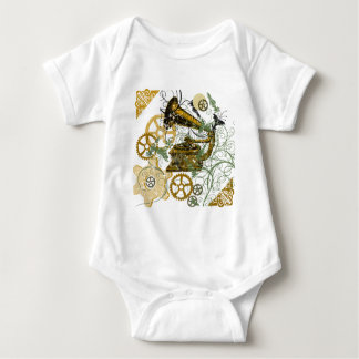 Distressed Look Steampunk Design Baby Bodysuit