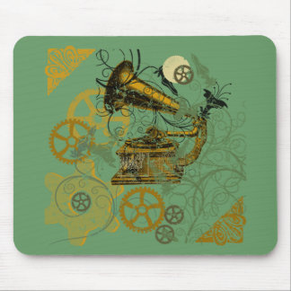 Distressed Look Steampunk Design Mouse Pad