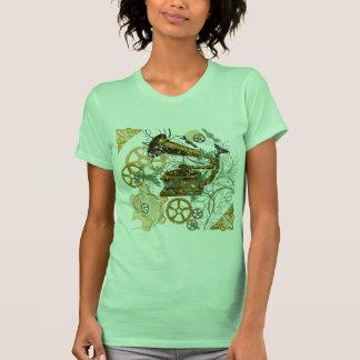 Distressed Look Steampunk Design T Shirt