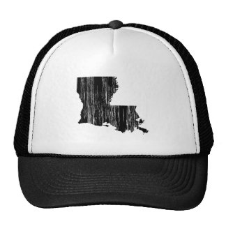 Distressed louisiana State Outline Cap
