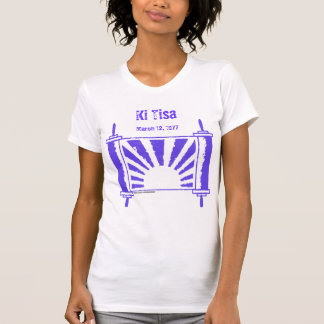 Distressed Lt Purple Sunrise Torah T-shirts