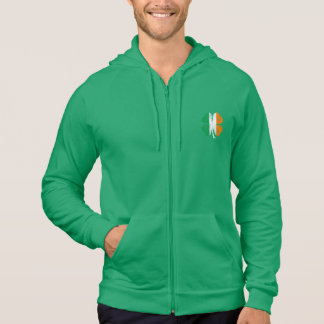 Distressed 'Luck Of The Irish' Shamrock Zip Hoodie
